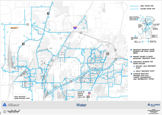 Data Center Infrastructure Map - Water