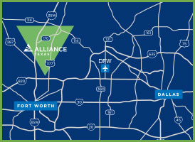 Alliance Texas Map Availability Map | AllianceTexas | Fort Worth, TX